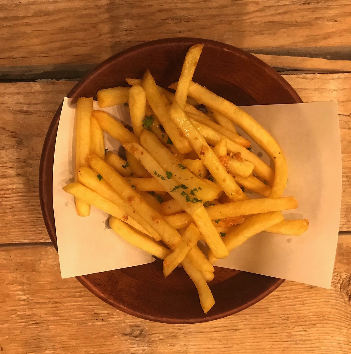 French fries - anchovies ~