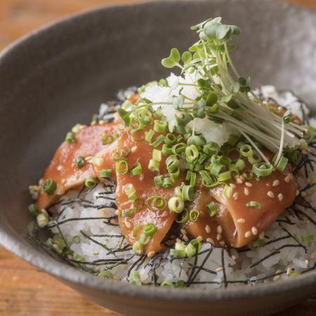 本日の韓国風まかないお魚丼