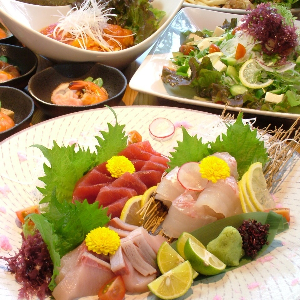 Many seafood creation menus are available