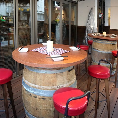 Barrel table Terrace seat is limited for a limited time! ※ For details please inquire.