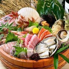 日本各地の漁港から仕入れた海鮮!
