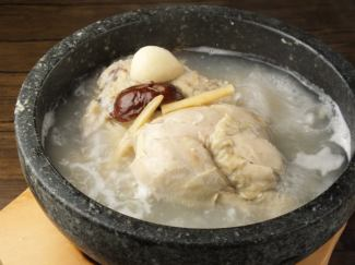 Homemade half samgyetang