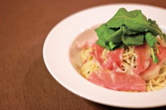 Pepperoncino of raw ham and Rucola