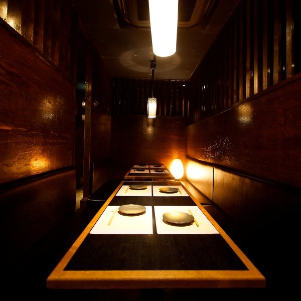 Indirect lighting with warmth and Japanese style interior ★ I can relax time forgetting about coziness.We prepare a number of individual rooms according to the number of people.All-you-can-eat drinks are popular ★
