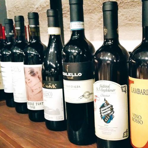 グラスワインは約10種の品揃え