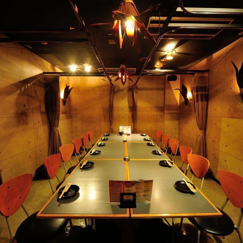 9名~16名様までのドア付きテーブル個室