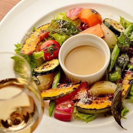 Sautéed vegetables gardening salad