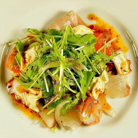 Yuba and seafood salad
