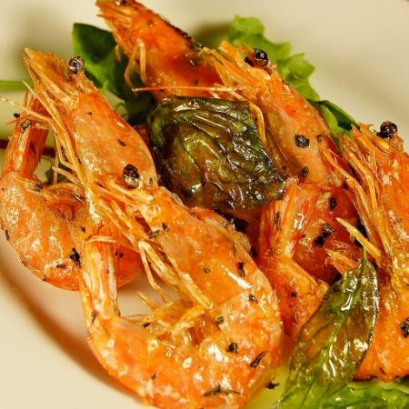 Deep-fried soft shell shrimp