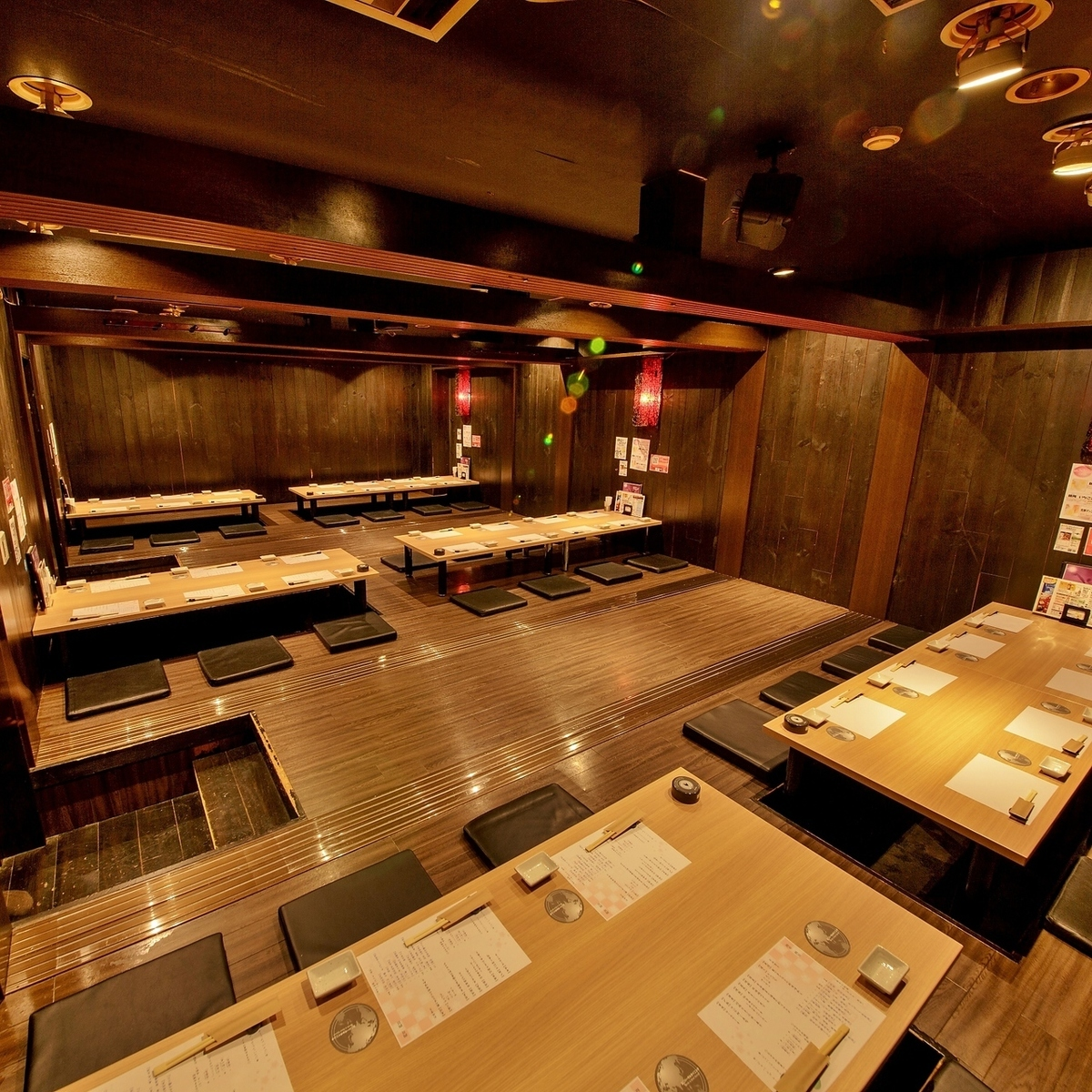 Digging corresponding to up to 60 guests Tatsuro's room