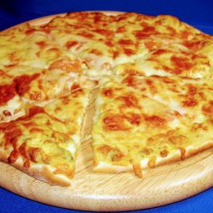 Four types of cheese pizza