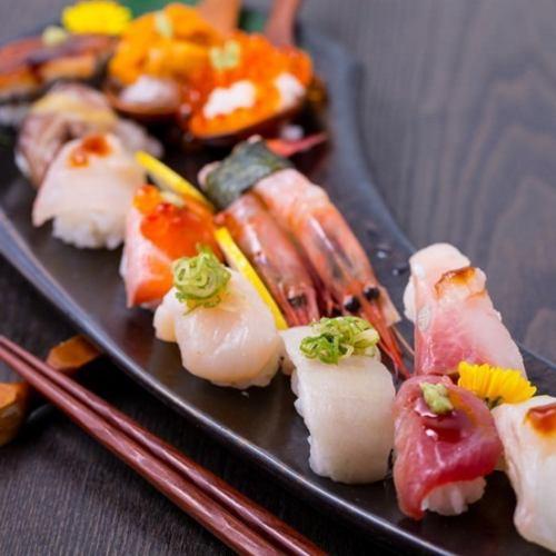创意寿司1日元120日元(不含税)〜