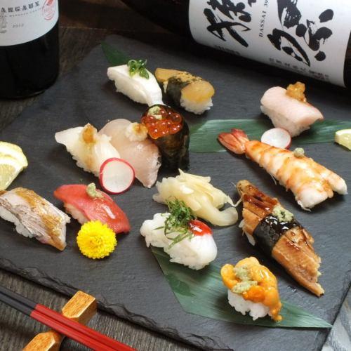 [女性人气]仅使用特殊的时令材料!创意的江户风格寿司共45种!120日元(不含税)〜
