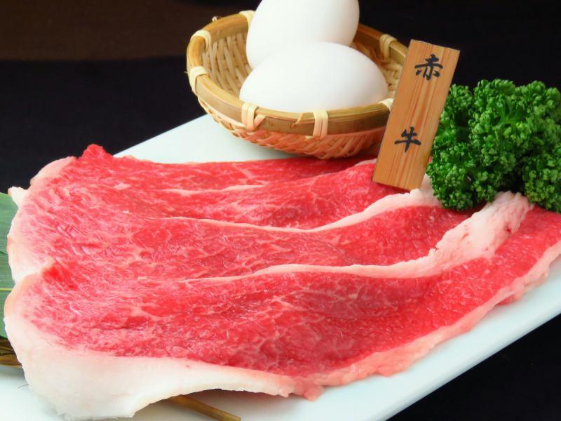 極上赤牛の焼きしゃぶ【熊本 焼肉 上通 肉 宴会 黒毛和牛 あか牛 馬刺 郷土料理 飲み放題】