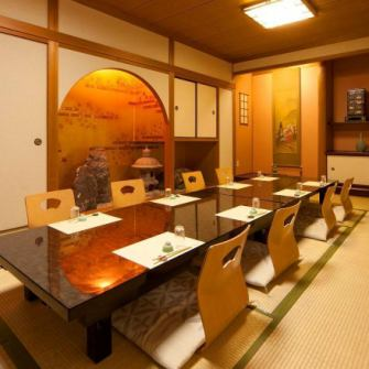 Completely private room with relaxing atmosphere.It is also recommended for entertainment, meals etc for your banquet / family.(For 2 to 10 people)