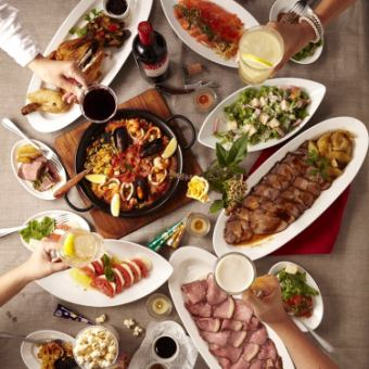 【October - December Limited Course】 Both meat and fish are luxurious! [10 items in total] 5000 yen