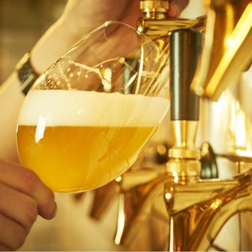 33種の樽生ビール飲み放題