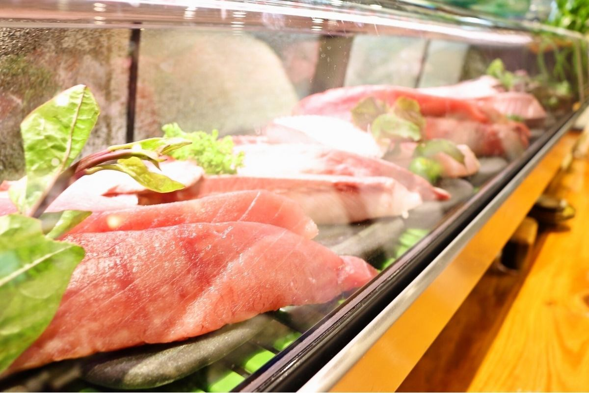 Shop ♪ that direct delivery of fresh fish and farm-fresh ingredients from the fishing boat can enjoy