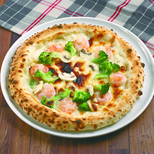 比薩餅和意大利面很自豪!