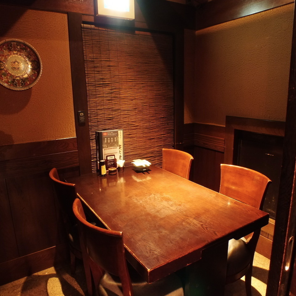 【Private room for small number】 Half private room with warm light.You can relax in the calm shop.◎ in various scenes such as meals and date with friends