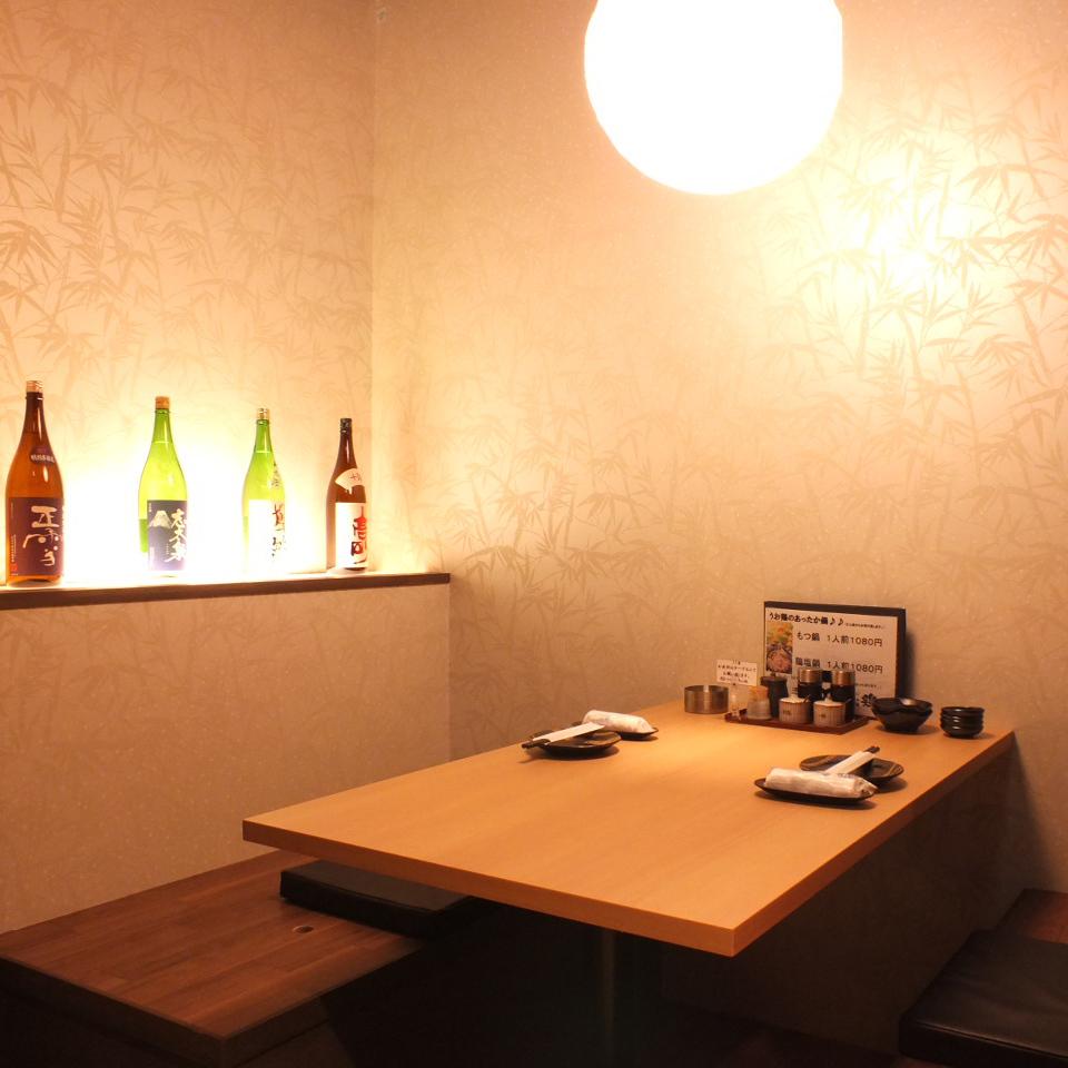 宽敞的2~4人私人房间推荐用于私人宴会和女孩社团◎