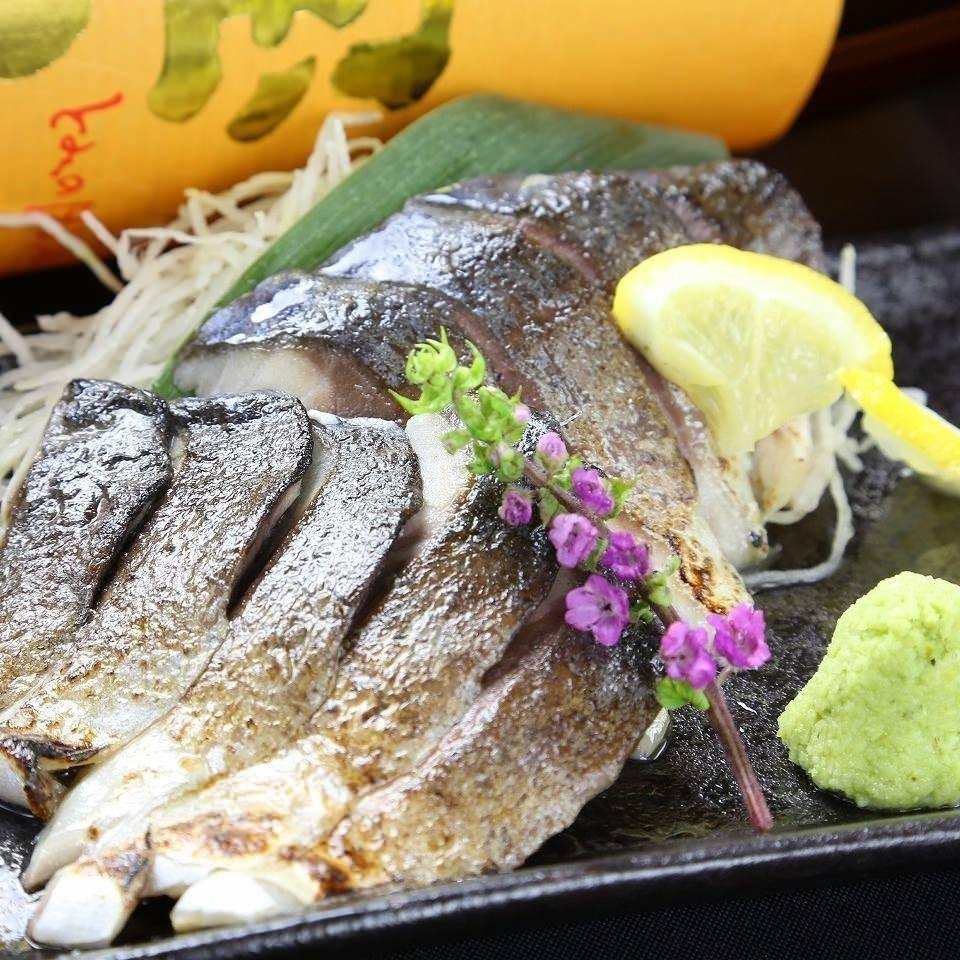Broiled sushi mackerel