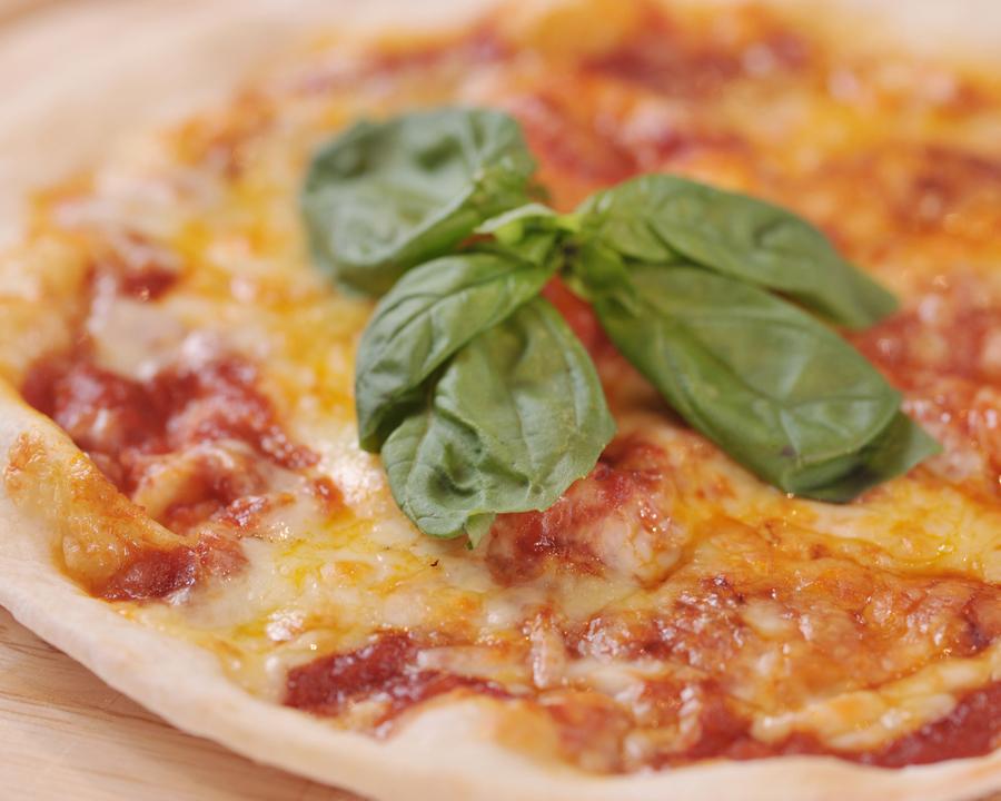 # Margherita (Tomato, Mozzarella, Basil)