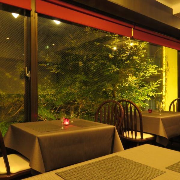 【女子会】ライトアップされた景色を見ながらいただく。創作イタリアン。優雅な空間で都会の喧騒を忘れるひと時を…