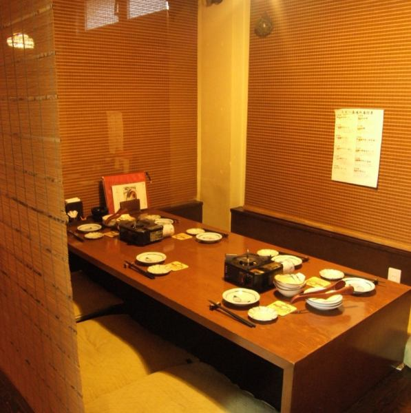 The 1st Floor Zashiki can be a private room with 4 to 12 guests! It is ideal for entertainment and dating.