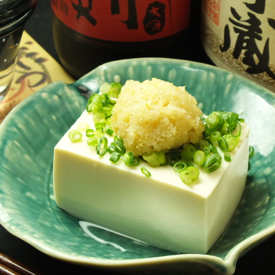 Mountain wasabi served with cold