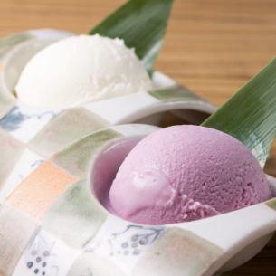 鹿児島種子島 紫芋アイス