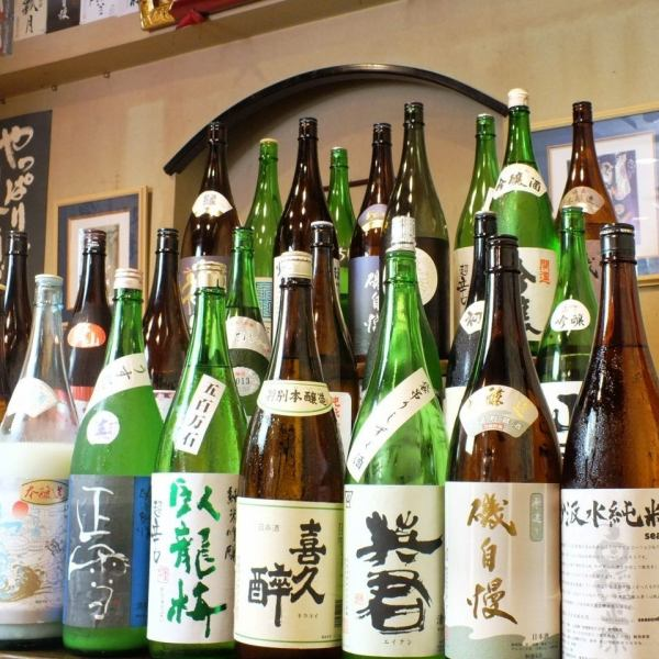 Shizuoka sake as well as national brands of sake are also available