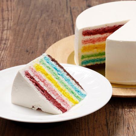 缤纷的彩虹蛋糕