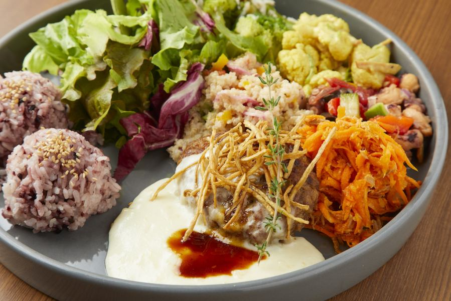 Main salad · Original DELI 5 types · One plate cooking where you can enjoy rice ♪
