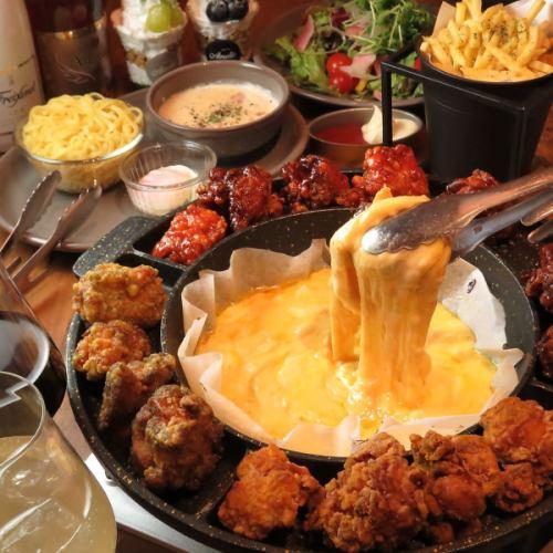 【包括90分鐘的酒精飲料】韓國人最喜歡的必備品!廚師的Chegy Chicken Course所有5項目2480日元