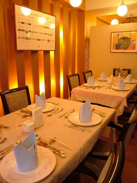 It is an atmosphere that you can dine slowly ♪ You can use it for parties from date to 40 people ♪