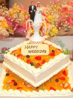 Special wedding plan (40 people pack) 626400 yen (tax included)