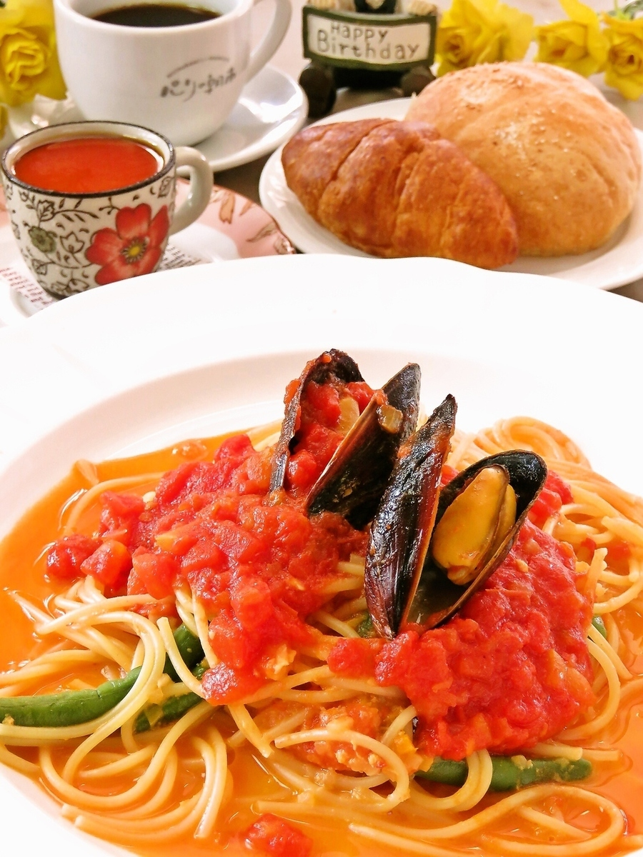 A lot of delicious seafood! Pasta lunch ♪