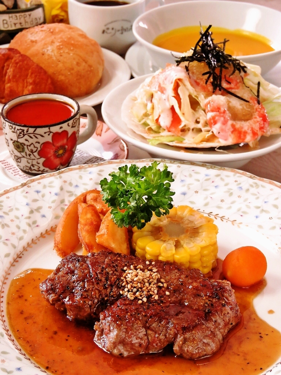 Large popularity! Beef fillet steak Lunch course 5 items 1998 yen