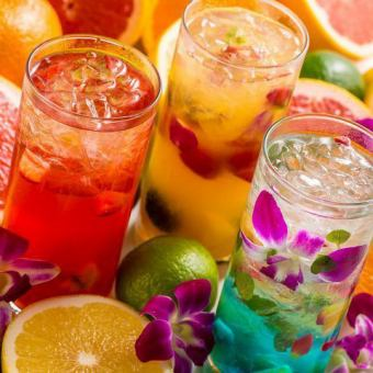 【All day OK!】 Over 100 kinds of drinks !! All you can drink alone 120 minutes 1000 yen ♪