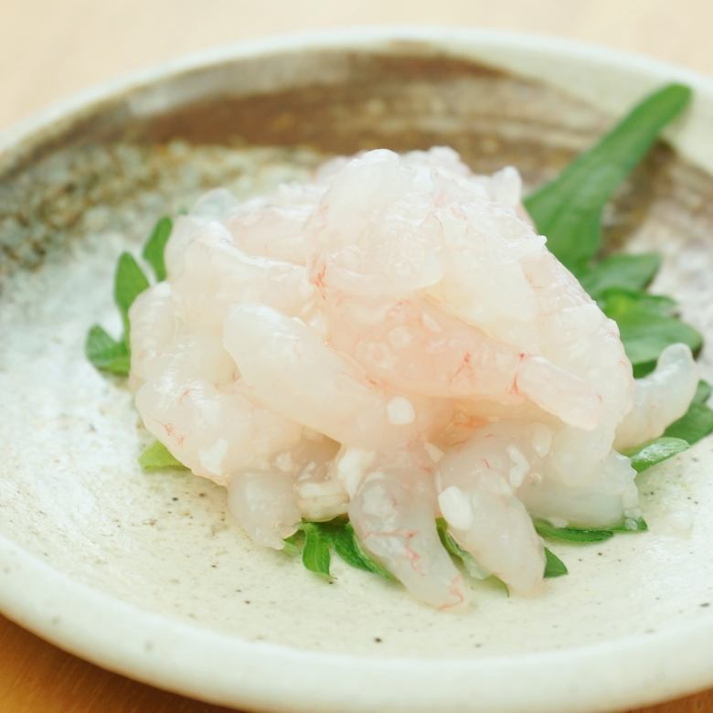 Sweet shrimp salted in soybean paste