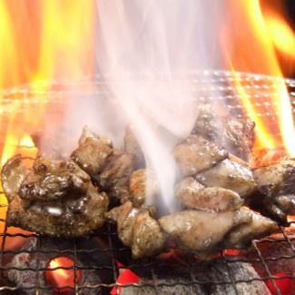 Charcoal grilling of Hakata river bird