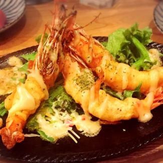 Extra large prawn Mayo iron plate
