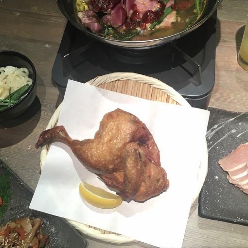 [锅那些也想享受所有6种菜肴,包括原来的炸鸡轮2H喝当然3500日元与释放