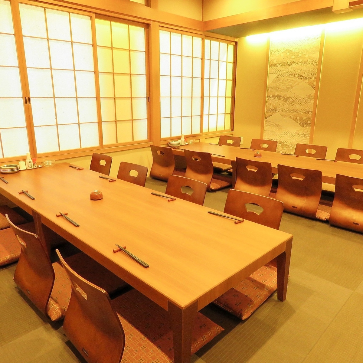 Private Japanese tatami rooms