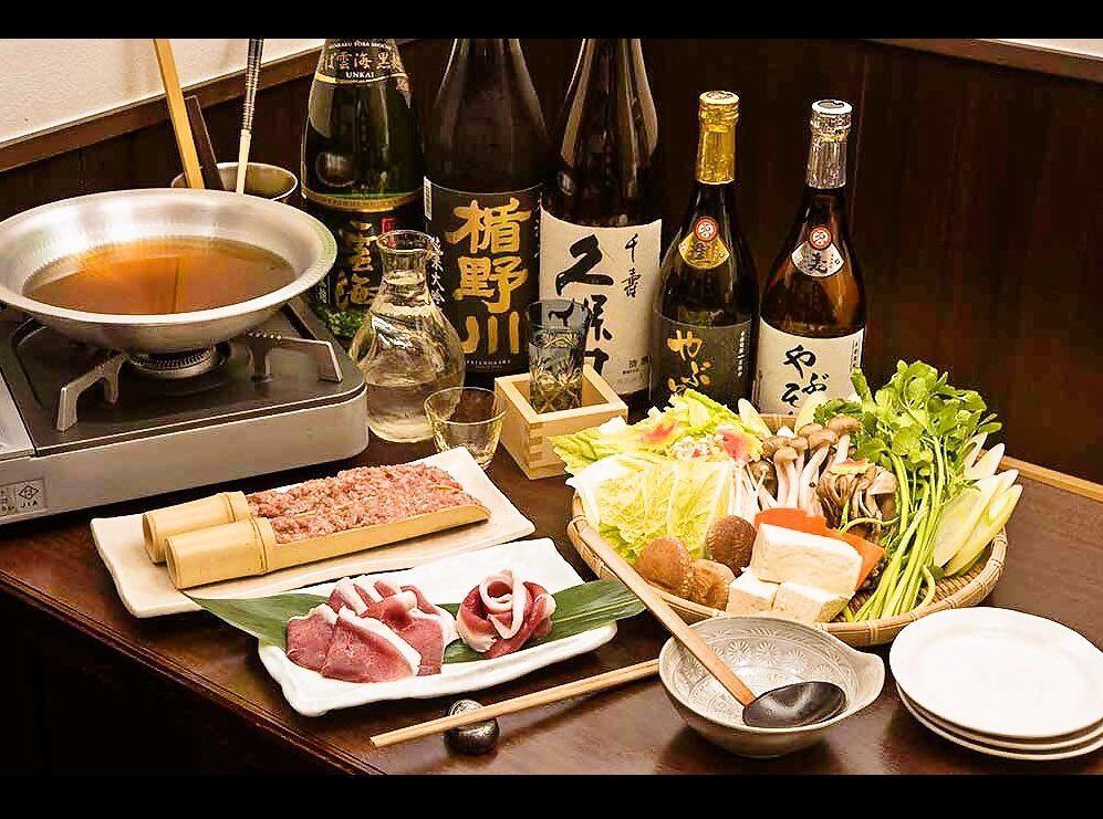 本格江戸打ち蕎麦と蔵王深山の竹炭水鴨を使用したこだわり鴨鍋4,000円コースを是非!