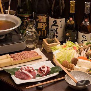 【Nutrition of secret noodle soba noodle with plenty of nutrition and vegetables, duck pot course 4000 yen】 【2H with drink all you can with 5800 yen】