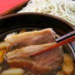 Duck soyabe buckwheat noodles