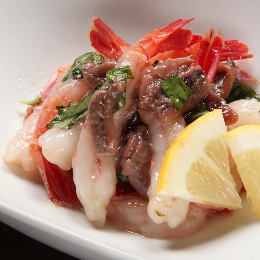 Rough salt of sweet shrimp Anchovy Yukke