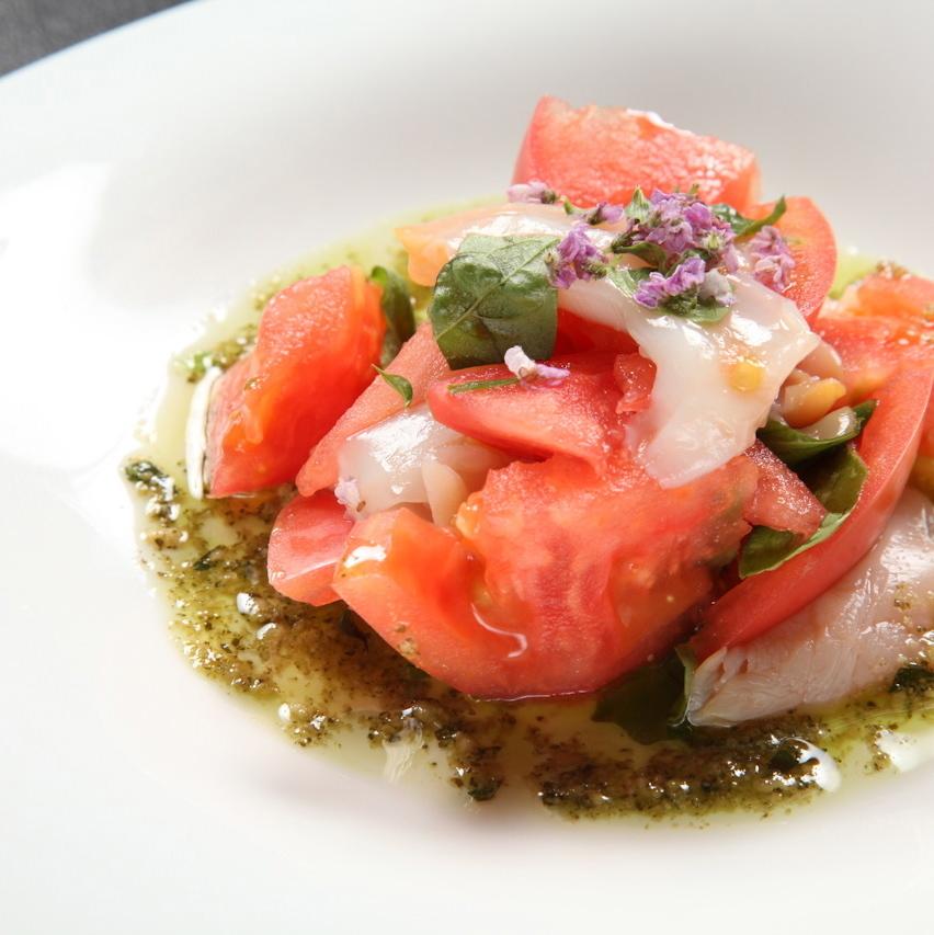 Aroma of caprise basil of ripe tomato
